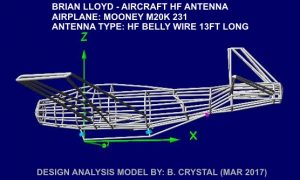 Spirit Aircraft HF Antenna Computer Design Image of 3D RF Model