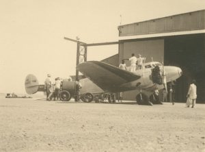 Amelia Earhart Lockheed Electra 10E serviced at Karachi India 16 June1937