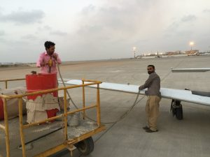 Avgas fuel for Spirit at airport Karachi Pakistan 14Jun2017 photo by Brian Lloyd