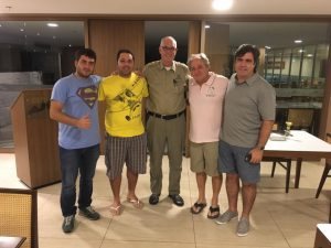 Brian Lloyd with friends at Fortaleza Airport Brazil 4JUN2017. photo by Fernando Diniz
