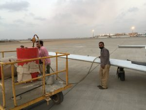 Fueling Spirit at airport Karachi Pakistan 14Jun2017 photo by Brian Lloyd