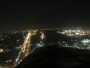 Landing at runway into Khartoum airport at night 12Jun2017 photo by Brian Lloyd