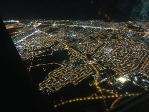 Lights of the modern city of Muscat Oman viewed from Spirit 13Jun2017 photo by Brian Lloyd