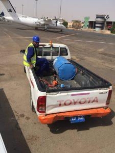 More fuel for Spirit on the ramp at Khartoum airport on 13Jun2017 photo by Brian Lloyd