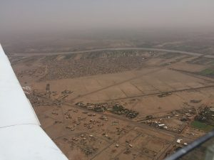 Outskirts of Khartoum from Spirit after departure on 13Jun2017 photo by Brian Lloyd