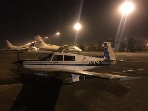 Spirit at night on the ramp at Khartoum airport 12Jun2017 photo by Brian Lloyd