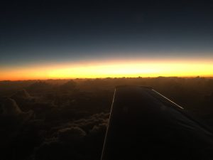 False dawn over Pacific Ocean near Tokelau from the aircraft Spirit photo by Brian Lloyd at 24July2017UTC ©2017 Brian Lloyd CC-BY 2.0