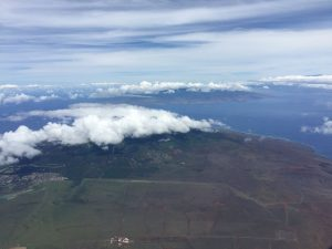 Lanai island (foreground) Maui island (background) from Spirit 27 July ©2017 Brian Lloyd