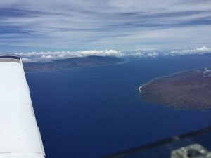 Molokai island left and Lanai island right from Spirit 27 July ©2017 Brian Lloyd