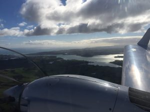 Over Raglan Harbor in Hamilton New Zealand photo 11 July 2017 by Brian Lloyd CC BY