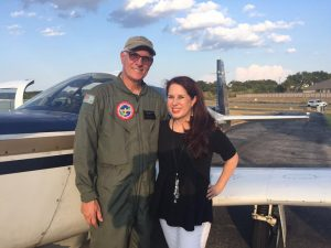 Brian Lloyd with Tracy LaQuey Parker at Kestrel Air Park Texas